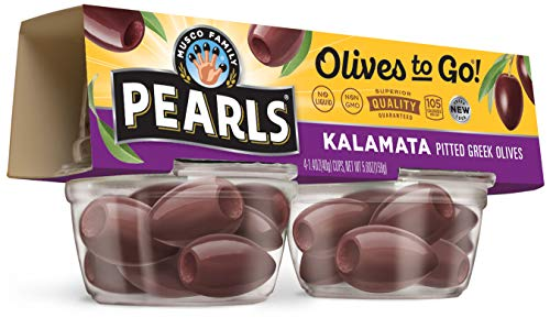 Pearls Olives To Go!, Pitted Kalamata Olives, 1.4 oz, 24-Cups