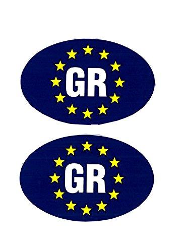 Preisvergleich Produktbild Aufkleber Europa-GR Griechenland 2er-Set je 50 x 75 mm ~~~~~ schneller Versand innerhalb 24 Stunden