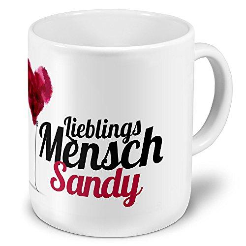 printplanet XXL Riesen-Tasse mit Namen Sandy - Motiv Lieblingsmensch - Namenstasse, Kaffeebecher, Becher, Mug