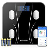 Body Weight Scale, Digital Bathroom Scale Body Composition Monitor Health Analyzer with Sm...