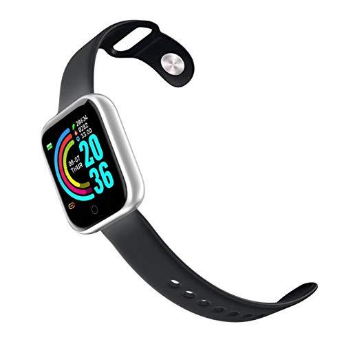 JCCOZ-URG La pulsera Bluetooth Smart Watch puede monitorear el número de pasos, calorías, frecuencia cardíaca, presión arterial, distancia, calidad del sueño, etc. Se puede conectar con un teléfono in