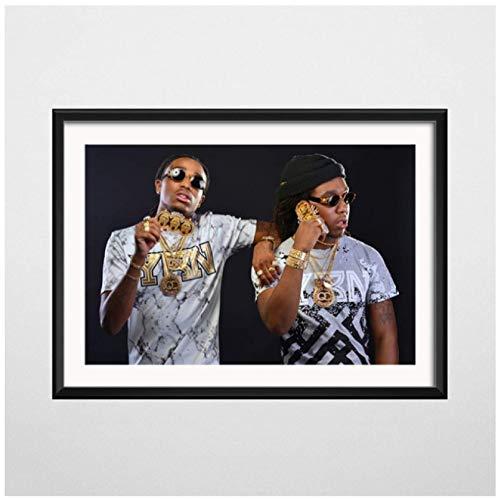 Trap Rap Star Hip Hop Rapper Posters e impresiones lienzo pintura cuadros de pared para la decoración de la sala de estar decoración del hogar-60x80cm sin marco