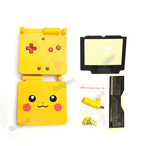 Galyme Pikachu Logo Replacement Housing Shell For GameBoy Advance SP GBA SP For Pokemon Console