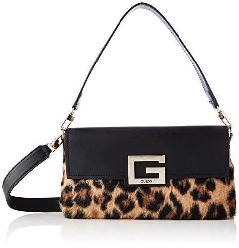Guess Brightside Shoulder Bag, Bags Crossbody para Mujer, Leopardo, Talla única