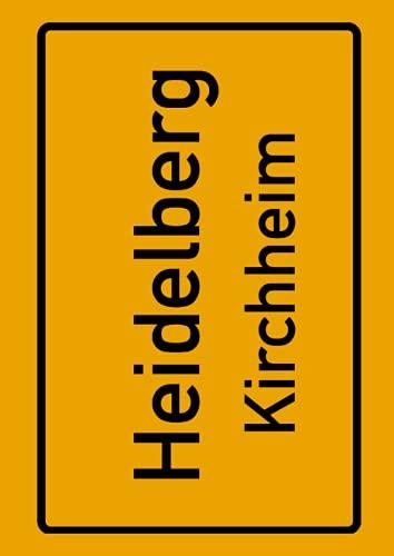 Heidelberg Kirchheim: Deine Stadt, deine Region, deine Heimat! | Notizbuch DIN A4 kariert 120 Seiten Geschenk