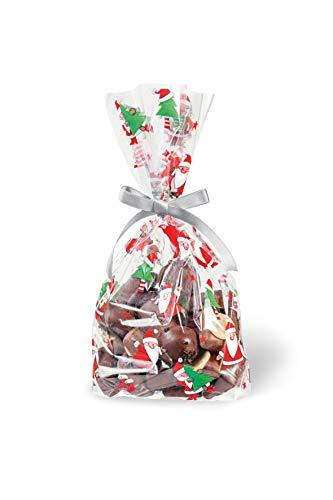 bsb Sacchetti per pasticceria, sacchetti per biscotti, sacchetti trasparenti di Natale, 14,5 x 23,5 cm