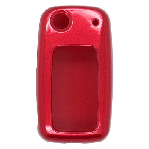 Coque de clé de voiture Fassport - Pour Volkswagen, Skoda et Seat - Peinture métallisée