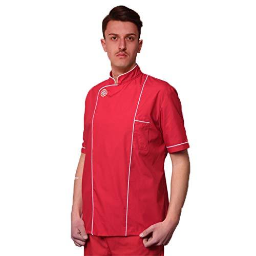 Veste casaque pour pizzaiolo rouge
