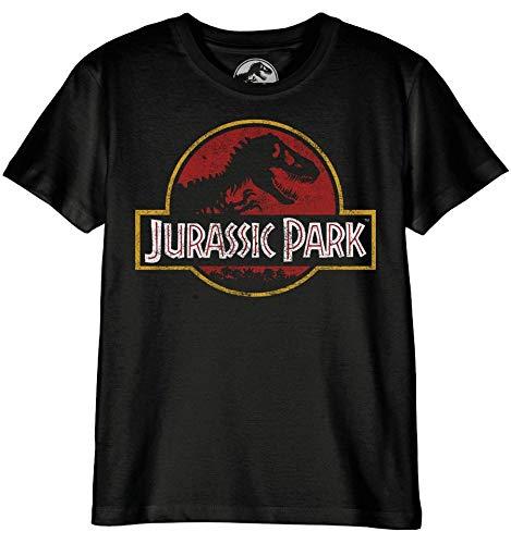 Jurassic Park Bojupamts001 Camiseta, Noir, 128 para Niños