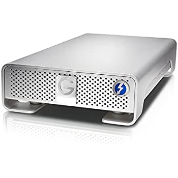 G-Technology 10TB G-DRIVE with Thunderbolt and USB 3.0 Desktop External Hard Drive, Silver - 0G05024