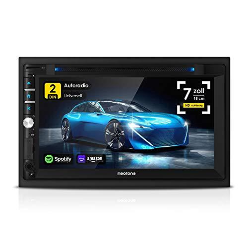 NEOTONE NDX-360A | 2DIN Autoradio | Android 10.0 Q | GPS Navigation mit Europakarten 2021 | DAB+ Unterstützung | 7 Zoll | USB l SDHC | Full HD |