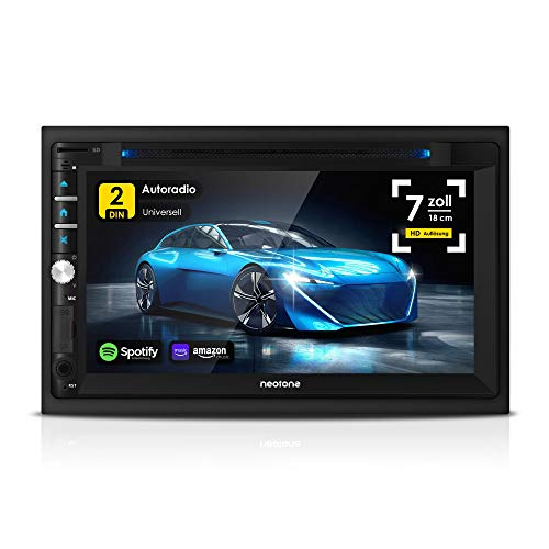 NEOTONE NDX-360A | 2DIN Autoradio | Android 10 | GPS Navigation mit Europakarten | DAB+ Unterstützung | 7 Zoll | USB l SDHC | Full HD | 16GB microSD inkl | WLAN | Bluetooth | MirrorLink | OBD 2 |