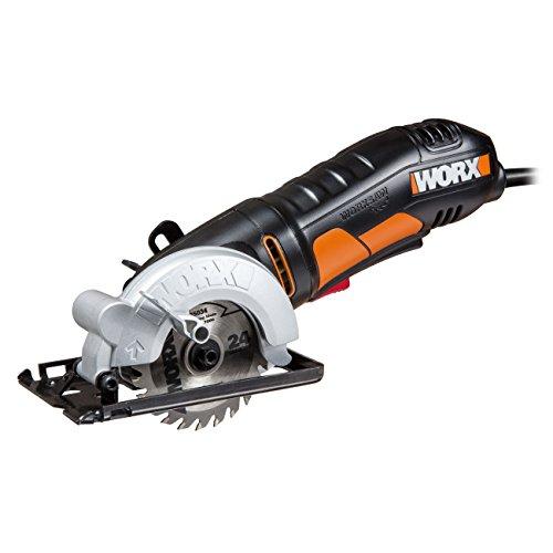 WORX WX423 WORXSaw Kreissäge 400W zum Sägen von Holz, Metall, PVC & Keramik - Kompakte Tauchsäge für präzise Schnitte & ideal für Parallelschnitte – 85mm Sägeblatt