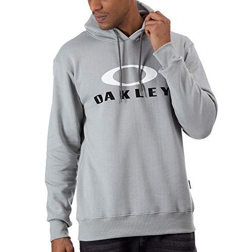 Moletom Oakley Fechado Dual Hoodie Masculino Cinza Claro