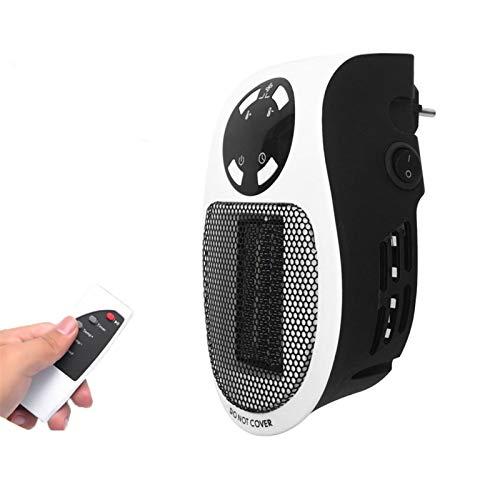 Calefactores Electricos Pequeños Handy Heater de Espacio 500W Silencioso Portátil Mini Estufa Eléctrica Chimenea con El Termóstato Ajustablewarmer Máquina Bajo Consumo para Hogar/ Oficina(Negro)