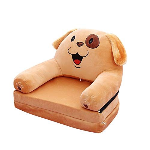 Fivtyily Kids Armchairs Foldable Plush Kids Sofa Multifunctional Kids Chair Cute Armchairs for Living Room Bedroom (Dog)