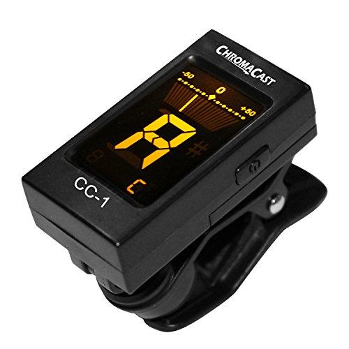 ChromaCast CC-1 Clip-on Tuner for Guitar, Bass, Violin, Ukulele & More
