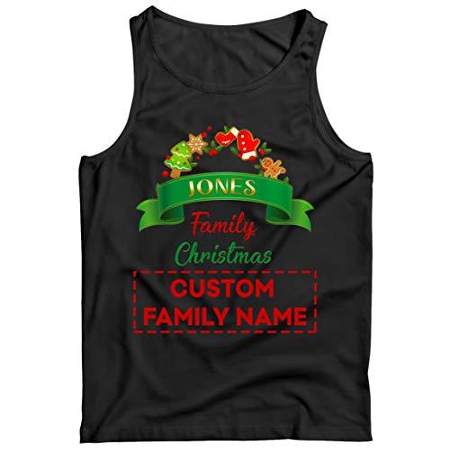 lepni.me Camisetas de Tirantes para Hombre Personalizado Familia Trajes de Fiesta de Navidad del 2020 a Quego (XXX-Large Negro Multicolor)