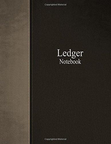 Ledger Notebook: Columnar Ruled Ledger, 3 Columns, 8.5x11 Inches, 100 Pages