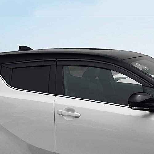WYZXR Fensterschildabdeckung kompatibel CHR 2018 Fensterlüftungsvisier Sonnenschutz Markisen Schutzdach kompatibel C-HR 17-19 (Schwarz)