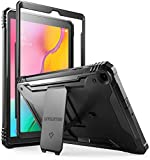 Poetic Galaxy Tab A 10.1 2019 Rugged Case with Kickstand, SM-T510/T515, Full Body Shockproof Cover, Built-in-Screen Protector, Revolution, for Samsung Galaxy Tab A Tablet 10.1 Inch (2019), Black