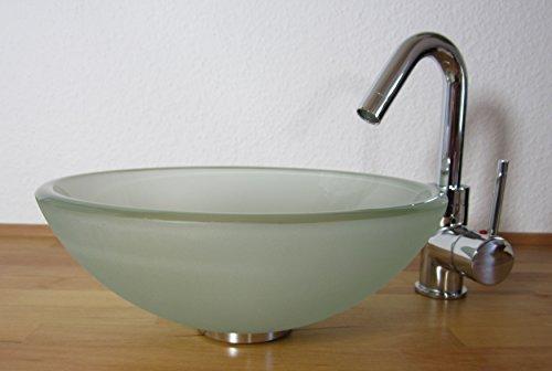 Nero Aufsatz Glas Waschbecken satiniert 31cm