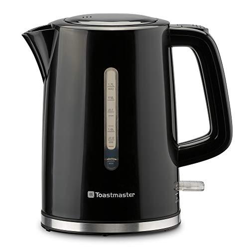Toastmaster TM-796KECB - Hervidor eléctrico, 1,7 litros, color negro