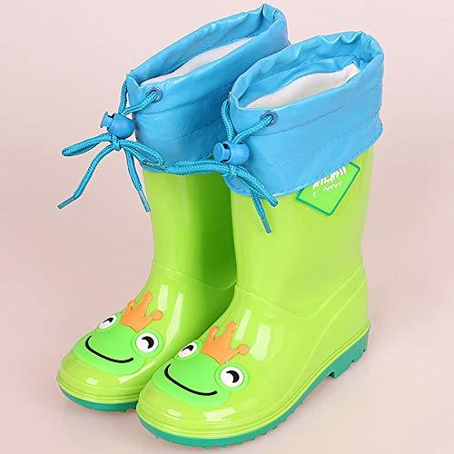 LUFKLAHN Nett und einfach Hoch Rohr Kinderrutschhemmende Regen Stiefel, Kinder Regen Stiefel (Color : C, Size : 33)