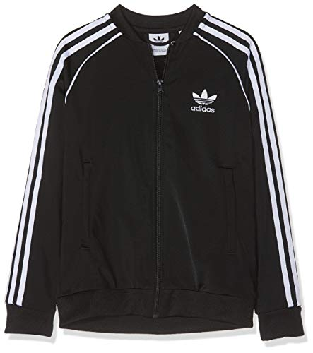 Adidas Superstar Top, Track Tops Unisex Bambini, Black/White, 13-14A