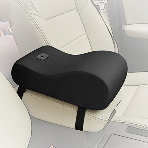 Fit Into Everyway Breathable Soft Memory Foam Car Armrest Center Consoles Cushion All Seasons Universal Auto Seat Cushion (Black)