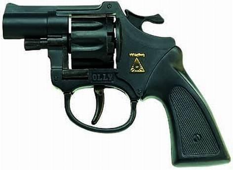 Pistole Revolver Olly 8 Schuss schwarz 127mmKunststoff Liefermenge = 1