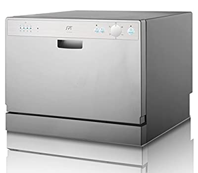 SPT SD-2202S Countertop Dishwasher with Delay Start - Silver