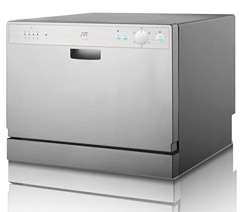 SPT SD-2202S Countertop Dishwasher with Delay Start, Silver