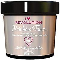 I Heart Revolution Rainbow Tones Silver Angel - Tinte para el cabello semipermanente y acondicionador en uno, lavable con 8-12 lavados de pelo, vegano, reutilizable, 120 ml