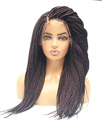 Fully Hand Braided Lace Front Box Braids Wig Braided Wigs For Black Women