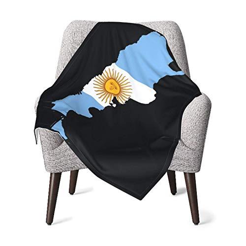 YUNJUAN Mantas de recepción para guardería, Manta de bebé con Bandera de Mapa de Argentina