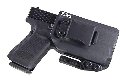 FDO Industries -Formerly Fierce Defender- IWB Kydex Holster Compatible with Glock 19 23 32 w/Olight PL Mini 2 The Paladin Series -Made in USA- (Black)