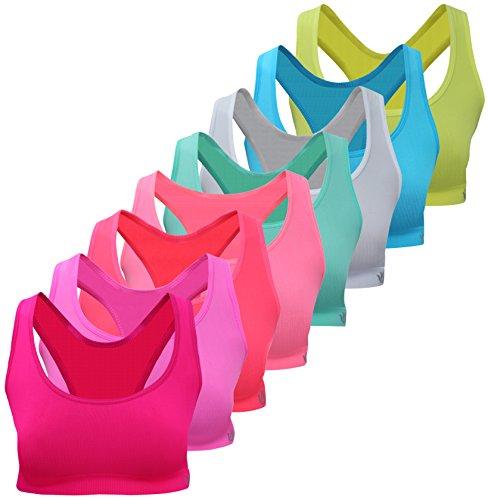 PiriModa 8 Meisjes Bustier microvezel BH Sport Bra topje BH kinderen ondergoed