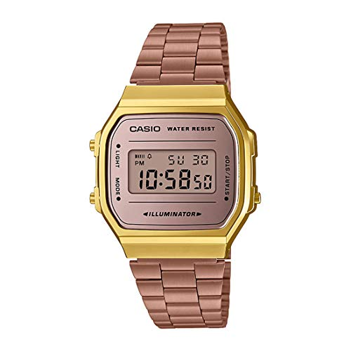 Relógio Casio Vintage Gold Digital Unissex A168WECM-5DF