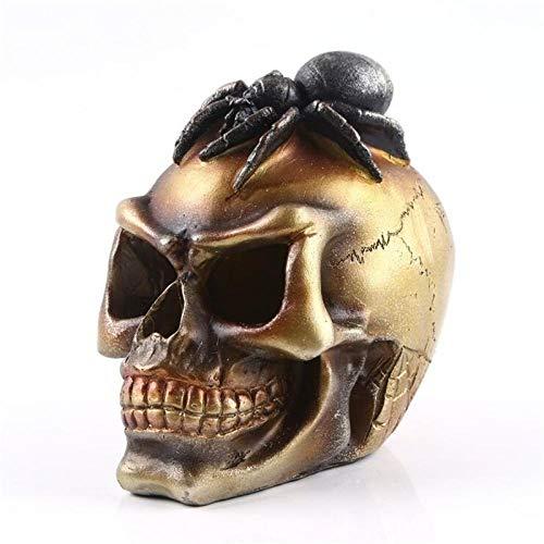 AIJOAN-BJ Estatuas Estatuillas Decoracion Estatua De La Cabeza del Cráneo De La Araña De Resina para El Arte De La Decoración Modelo Médico Decoración del Hogar De Halloween Figuras Escultura