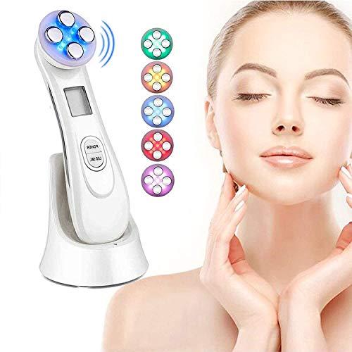 Radiofrecuencia Facial y corporal Aparato, Aparato Facial aparato Radiofrecuencia, 5 Modos de Terapia de luz LED, Antiarrugas, Anti-envejecimiento, Limpieza Profunda, Cuidado Facial