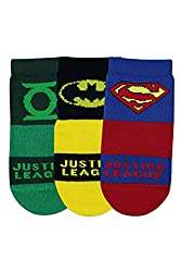 Justice League Kids High Ankle Socks by Balenzia - Pack of 3