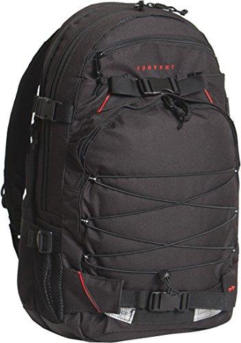 FORVERT Unisex Bag Laptop Louis sportlich-lässiger Laptoprucksack mit durchdachter Ausstattung und Boardcatcher, schwarz (Black)