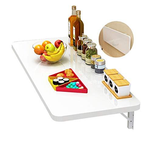 FMSBSC Wandklapptisch,Holz Wandtisch Klappbar Küchetisch Beistelltisch Laptoptisch Esstisch Ecktisch Schreibtisch Mehrzwecktisch, Weißer Wandtisch,100 * 40cm/39 * 16in