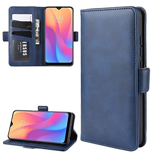 La selección de Cici For Xiaomi redmi 8A Doble Hebilla Caballo Loco de Negocios del teléfono móvil de la pistolera con Tarjeta de la función del Soporte Wallet (Negro) (Color : Blue)