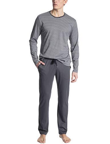 Calida Herren Casual Pure Zweiteiliger Schlafanzug, Grau (Sleet Grey 952), Medium (Herstellergröße: M)