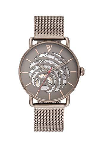 PAUL VALENTINE ® Herrenuhr Automatik mit Mesh Armband aus Edelstahl - Mit Saphirglas - 40 mm Durchmesser - Edle Herren Uhr mit japanischem Quarzwerk - Armbanduhr für Herren (Aris)