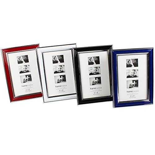COM-FOUR® 4x fotolijsten in verschillende kleuren - fotolijst met standaard en om op te hangen - stijlvolle lijst voor uw favoriete foto's