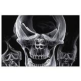 DLJIYZX Felpudo Cráneo Fumar Alfombras de Piso abstractas...