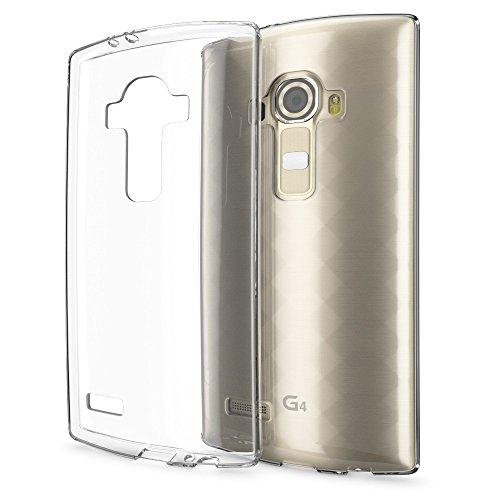 NALIA Funda Carcasa Compatible con LG G4, Protectora Movil Silicona Ultra-Fina Gel Cubierta Estuche, Goma Ligera Smart-Phone Bumper Cover Cobertura Delgado Case Claro Cristal Clear - Transparente
